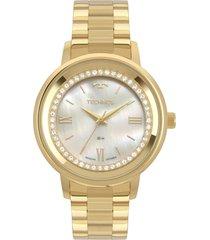 relógio technos fashion dourado 2036mkx4b