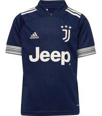 juventus youth away jersey t-shirts short-sleeved blauw adidas performance