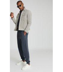 reiss joseph - garment-dye sweatshirt in airforce blue, mens, size xxl