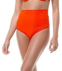calcinha tritu㪠tritu㪠biquãni hot pants lisa conforto laranja - laranja - feminino - poliamida - dafiti