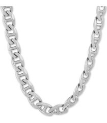 "mariner link 24"" chain necklace in sterling silver"
