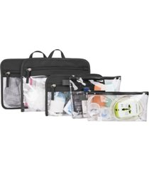 travelon packing pouches, set of 5