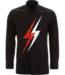 neil barrett bicolor thunder shirt