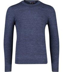superdry trui ronde hals donkerblauw melange