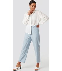 na-kd classic tailored mid rise suit pants - blue