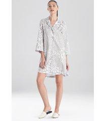natori leopard printed cotton sateen sleepshirt sleepwear pajamas & loungewear, women's, 100% cotton, size m natori