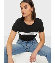 calvin klein jeans ss stripe slim tee t-shirts