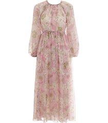 super eight braid midi dress in pink poppy