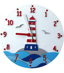 zegar dla dziecka latarnia morska