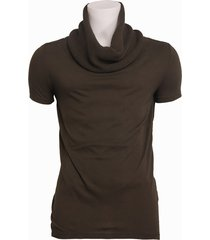 6008 entreat - t-shirt knitted cotton sca - zumo - t-shirts - groen