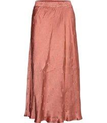draped skirt with bias cut knälång kjol röd coster copenhagen