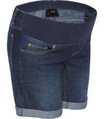 shorts di jeans prèmaman con fascia sotto la pancia (blu) - bpc bonprix collection
