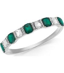 charter club multi-stone bangle bracelet, created for macy's