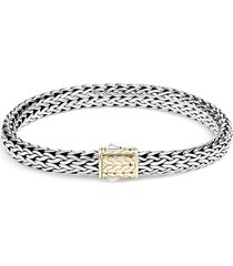 'classic chain' 18k gold silver small bracelet