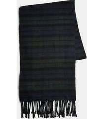 mens black watch check scarf