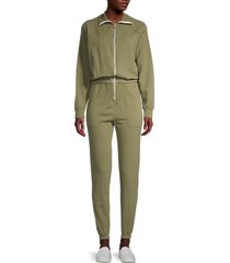 electric & rose women's mojave knit jumpsuit - army - size l