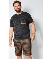 t-shirt men plus grå::neonorange