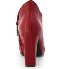 botines para mujer marca san polos color rojo san polos - rojo