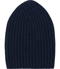 barrie knitted cashmere beanie - blue