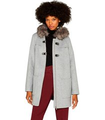 abrigo con capucha gris esprit