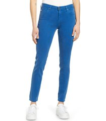 women's ag the prima ankle cigarette jeans, size 26 - blue