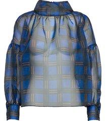 rodebjer kellman blouse lange mouwen blauw rodebjer