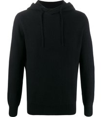 emporio armani slim-fit hoodie - black