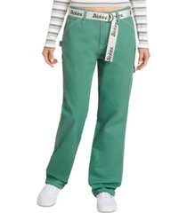dickies juniors' belted cargo pants