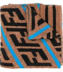 fendi camel scarf