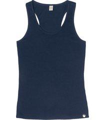 regata cotton leve básica feminina rovitex azul