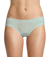 commando women's perfect stretch lace bikini-cut briefs - mineral