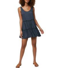 women's o'neill linnet sleeveless cover-up minidress, size large - grey