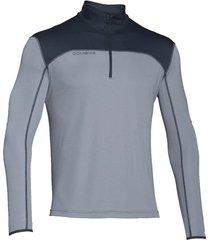sueter under armour acceleration 1/4 zip para hombre-gris plateado-gris plateado