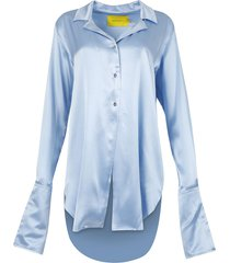 pyjama blouse light blue