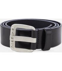 diesel men's b-star leather belt - black - w40/100cm