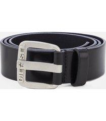 diesel men's b-star leather belt - black - w40/100cm