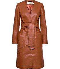 jericaiw coat dunne lange jas rood inwear