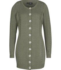 cardigan in maglia traforata (verde) - bpc bonprix collection