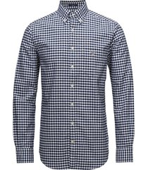 the oxford gingham reg bd overhemd business blauw gant