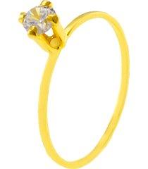 anel horus import solitário pedra cristal dourado
