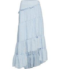 full tiered skirt knälång kjol blå 3.1 phillip lim