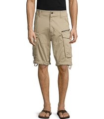 rovic stretch cotton cargo shorts