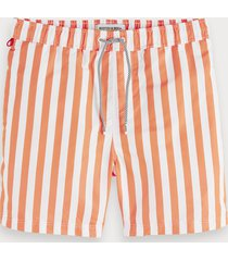 scotch & soda bright striped swim shorts