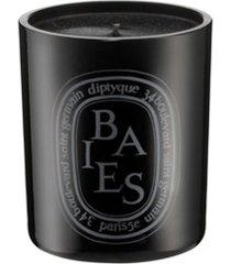 diptyque vela aromatizada 'baies' com suporte - preto