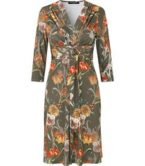 ilse jacobsen jurk nice flowers army groen