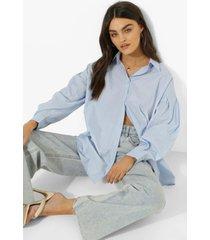 korte katoenen boxy citroenen poplin blouse