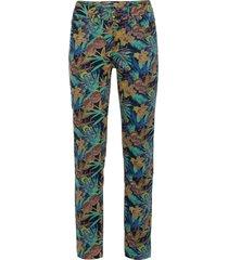 jeans skinny a fiori in cotone biologico (blu) - rainbow