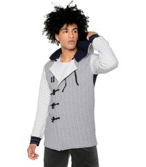 cardigan world citizen multicolor gris/azul/blanco de osop mansion men's fashion jackpot
