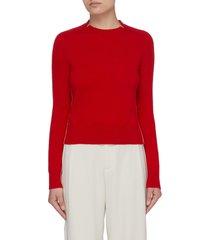 outline slit crewneck cashmere sweater