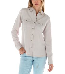 blusa ml mujer sloan l/s woven top lila cat